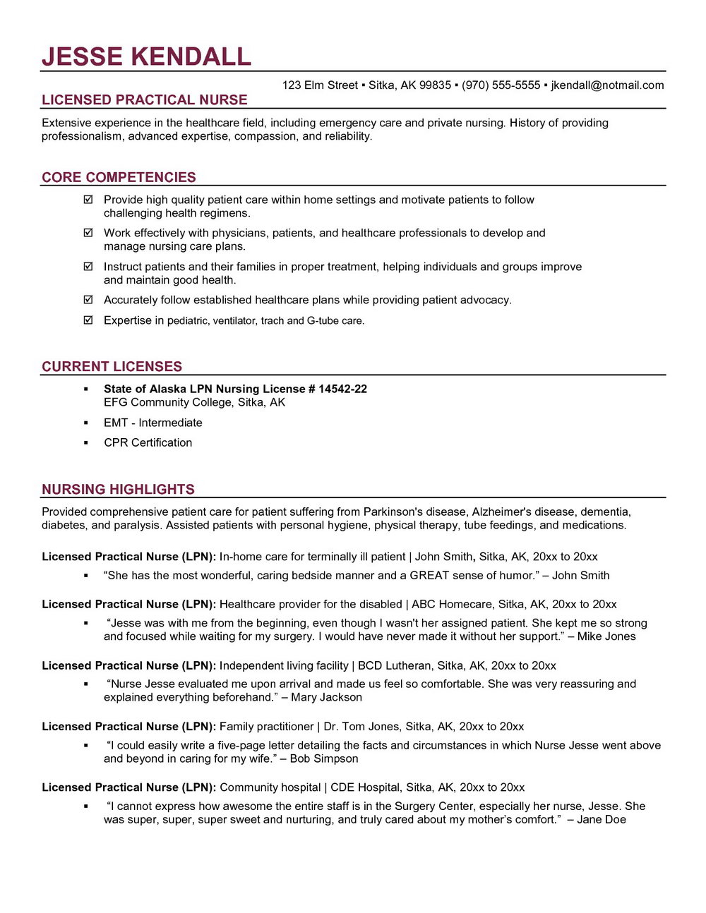 Free Online Resume Builder Printable