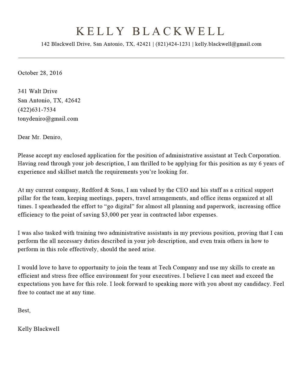 Free Resume Cover Letter Builder