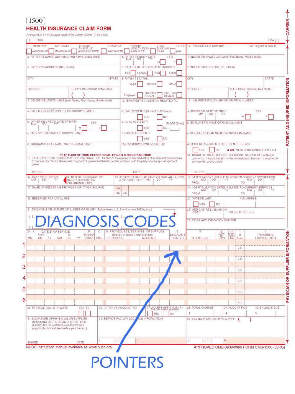 Sample Hcfa 1500 Claim Form