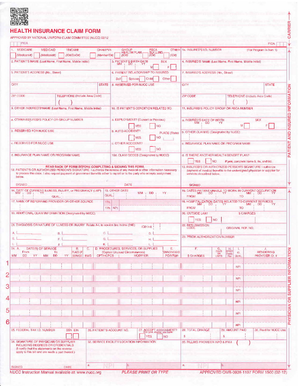 Hcfa Form 1500