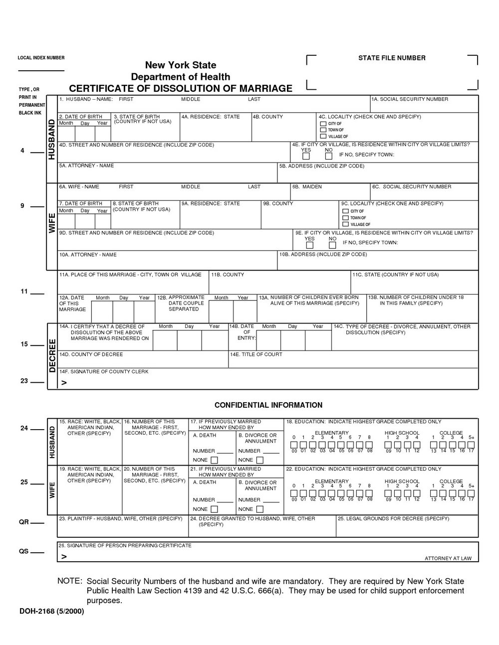 Nys Divorce Forms Uncontested
