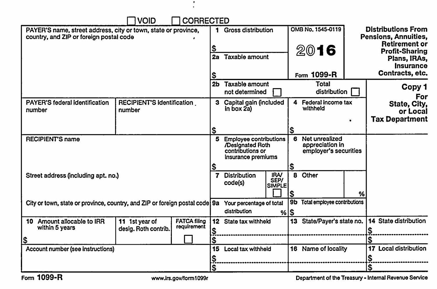 1099 Fill In Form 2016