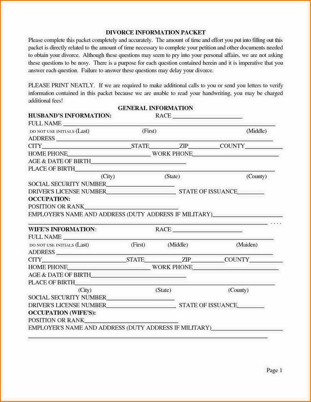 Az Divorce Forms Maricopa County