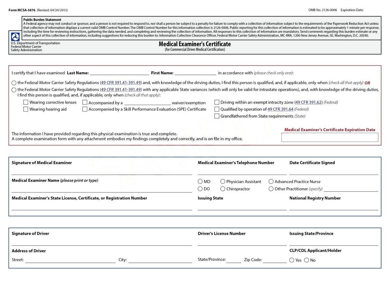 Forklift Certification Form