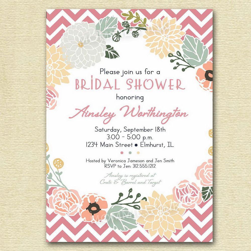 Free Bridal Shower Invitation Templates Photoshop