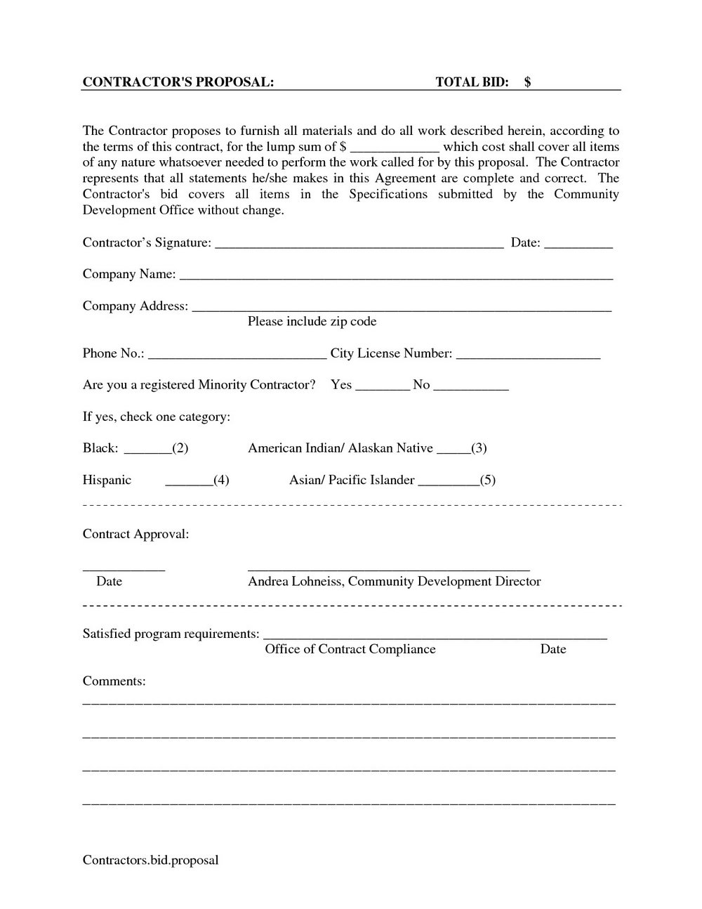Free Printable Estimate Forms Templates