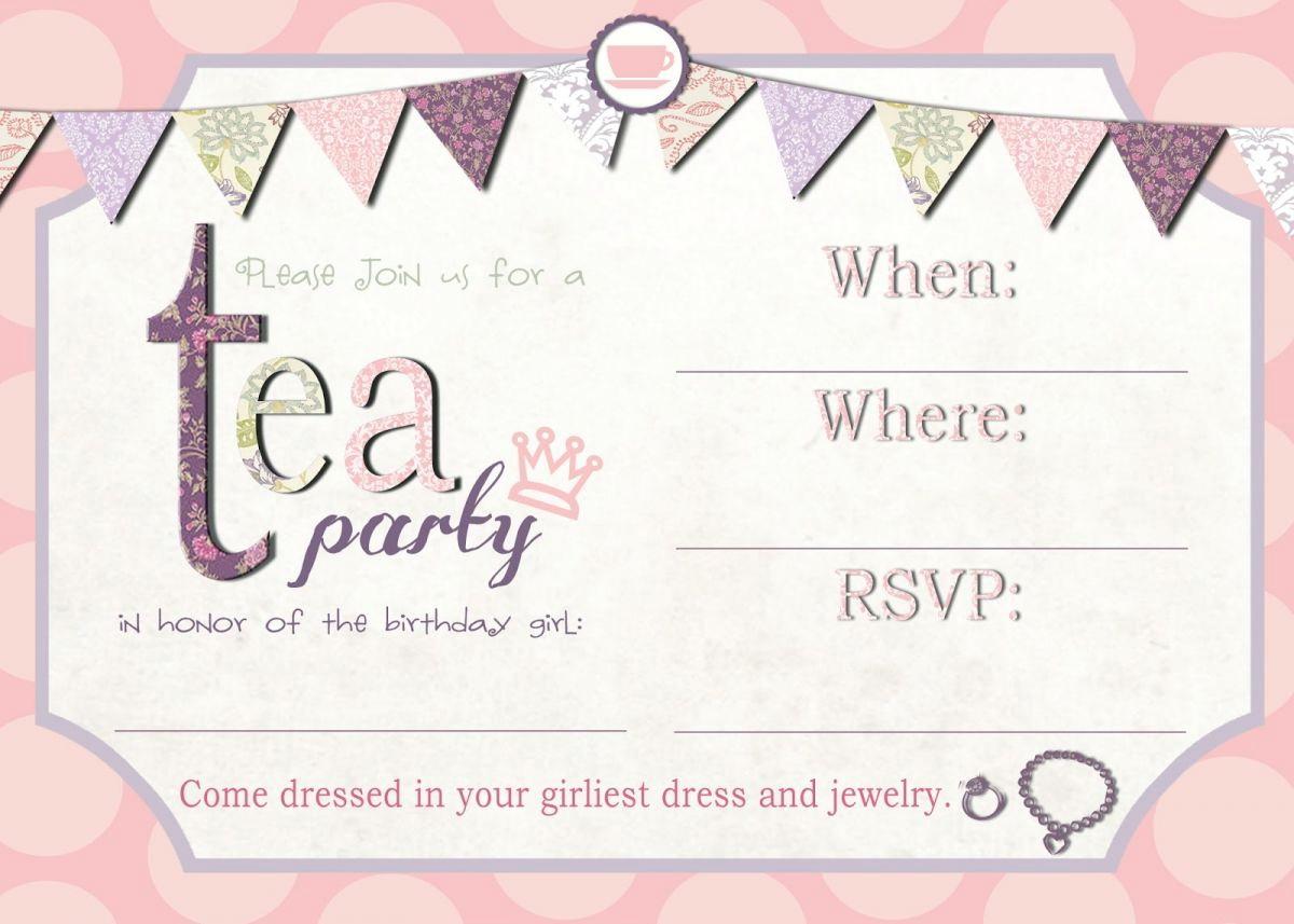 Party Invitation Template Editable
