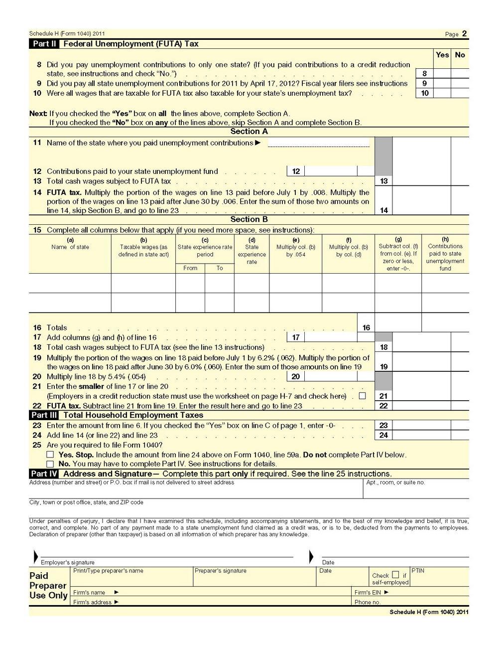 Tax Form 1040a 2014