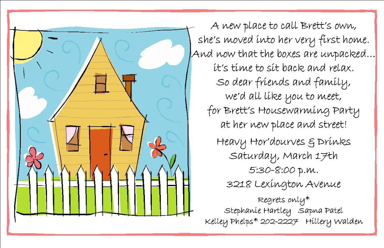 Housewarming Invitation Template Free