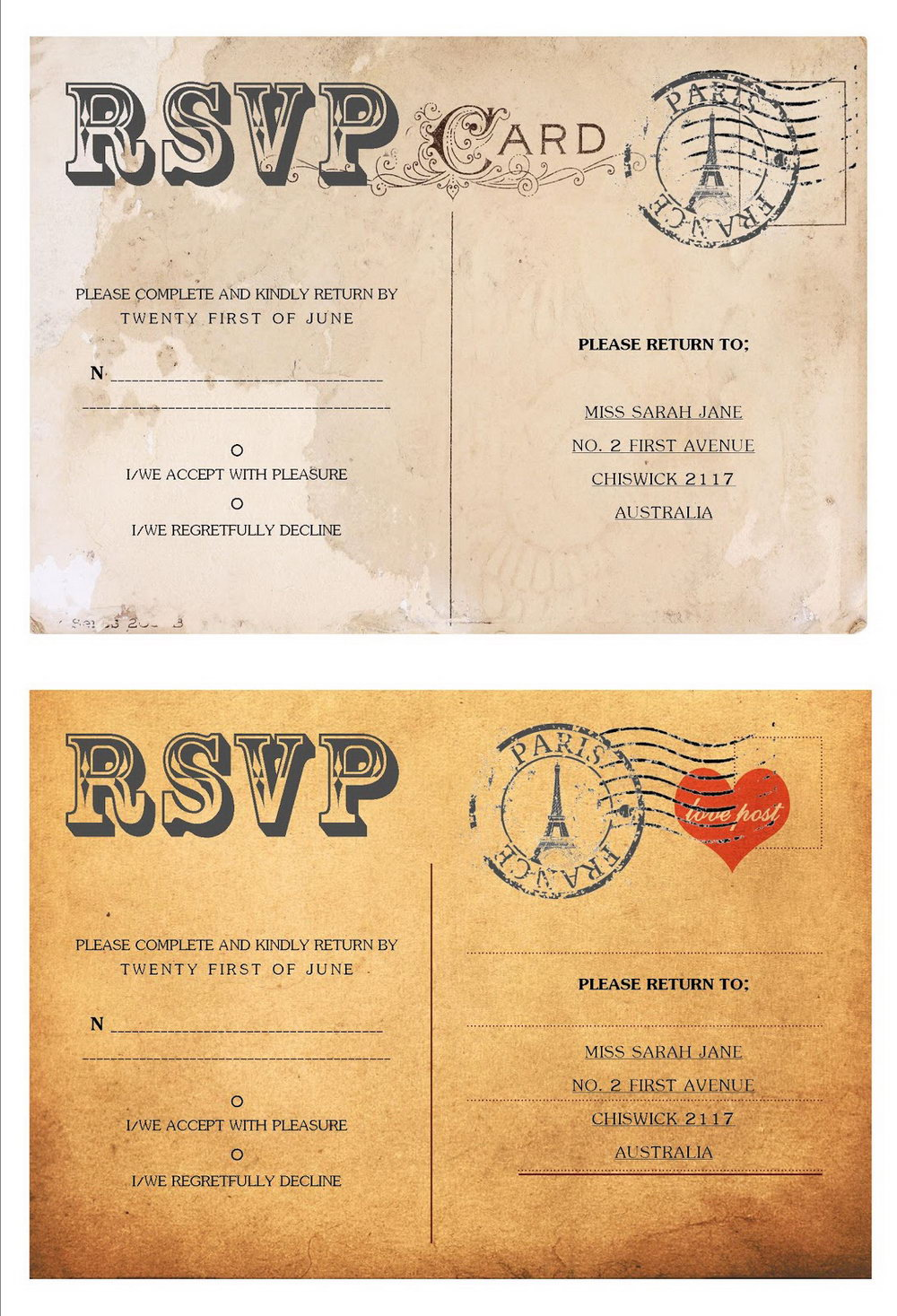Rsvp Wedding Invitation Template