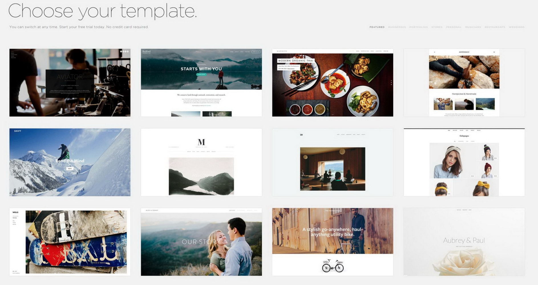 Squarespace Templates For Photographers