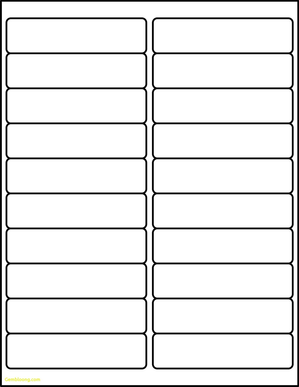 Avery Labels 5163 Template