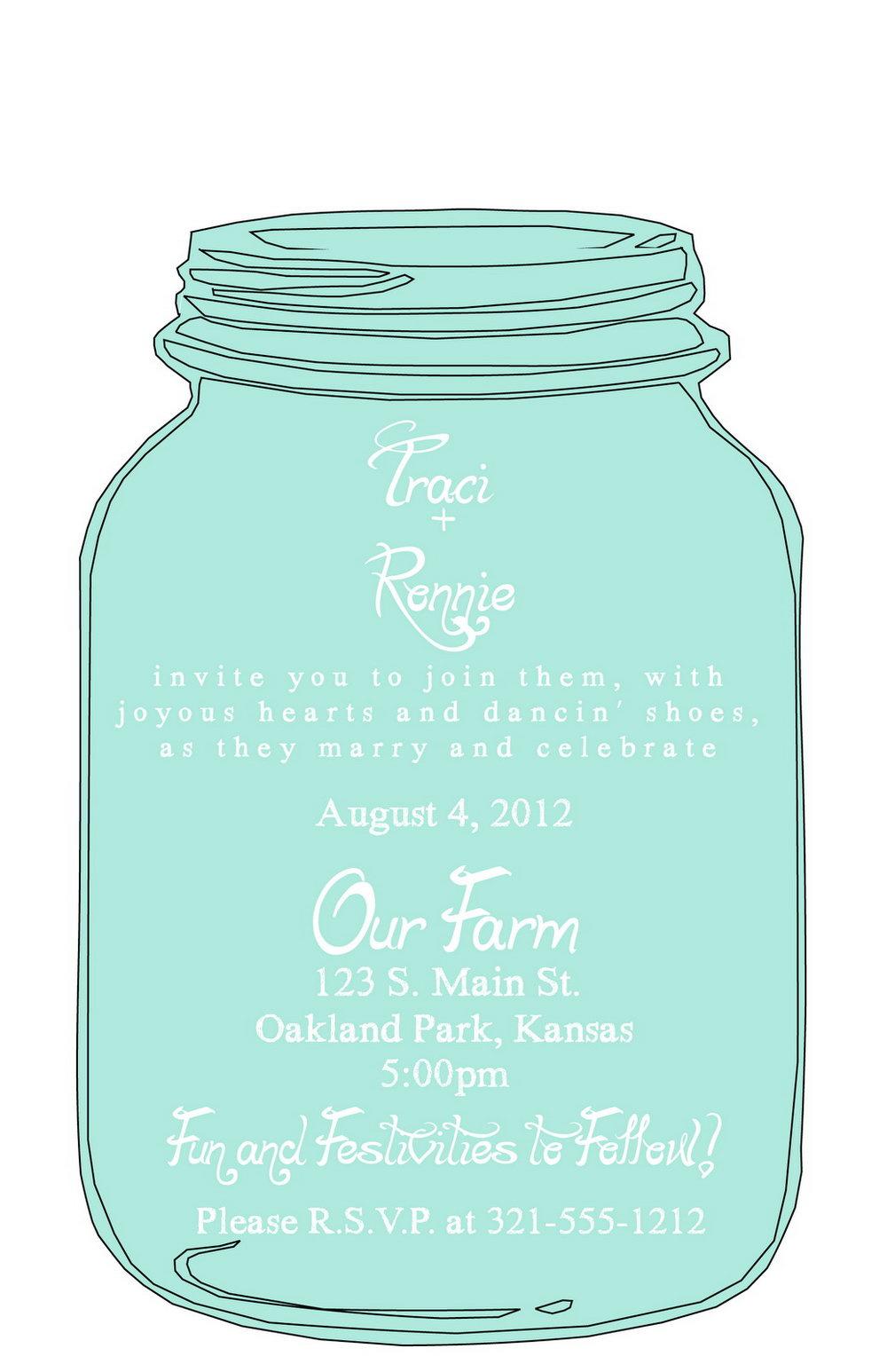 Mason Jar Invitation Template Free