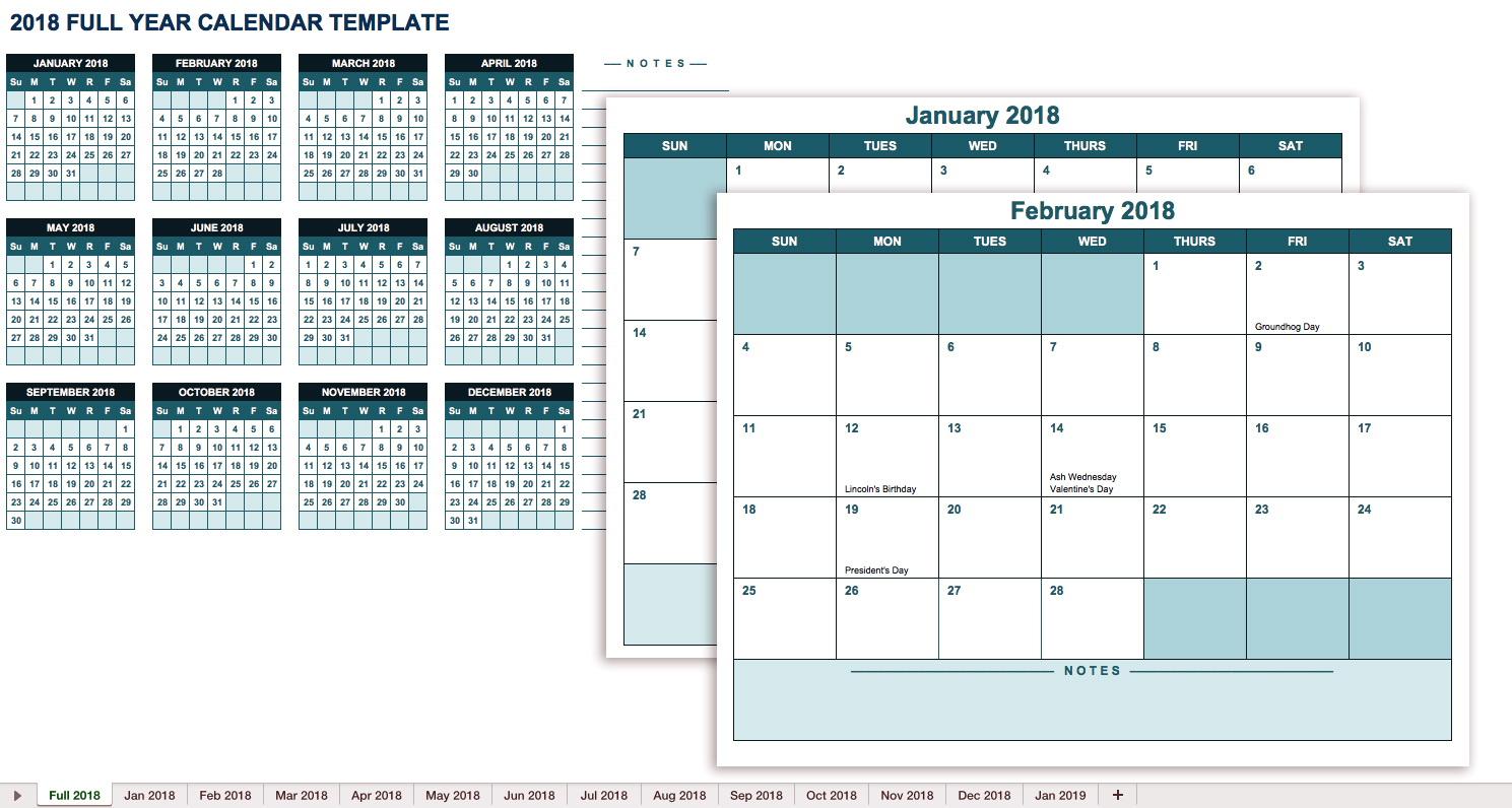 Payroll Calendar Template 2018 Excel
