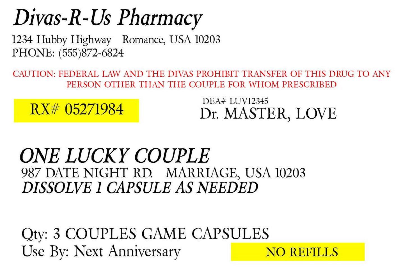 Prescription Bottle Label Template