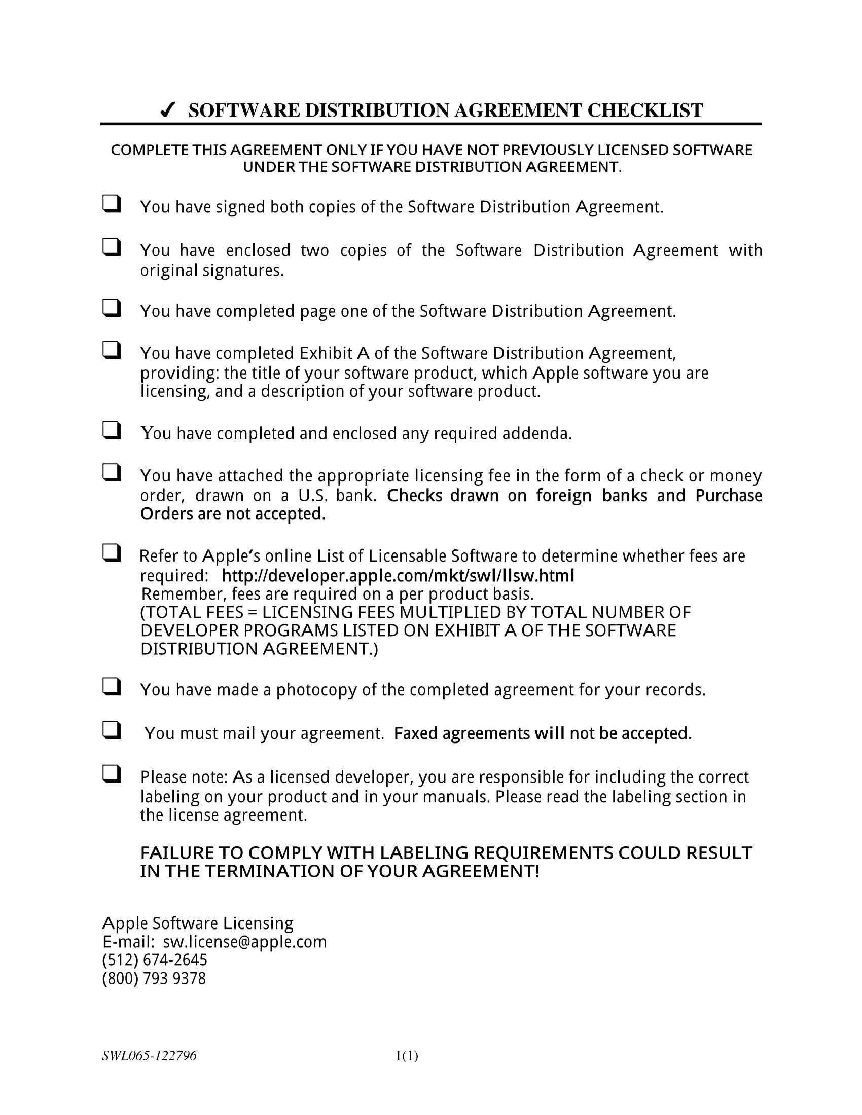 Termination Of Distribution Agreement Template