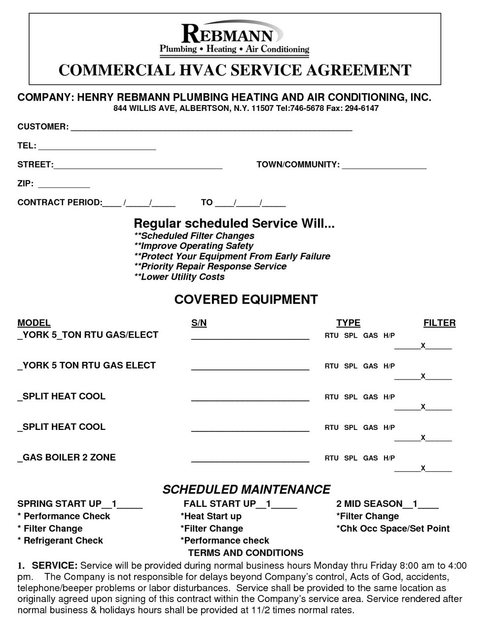 Free Hvac Installation Contract Template