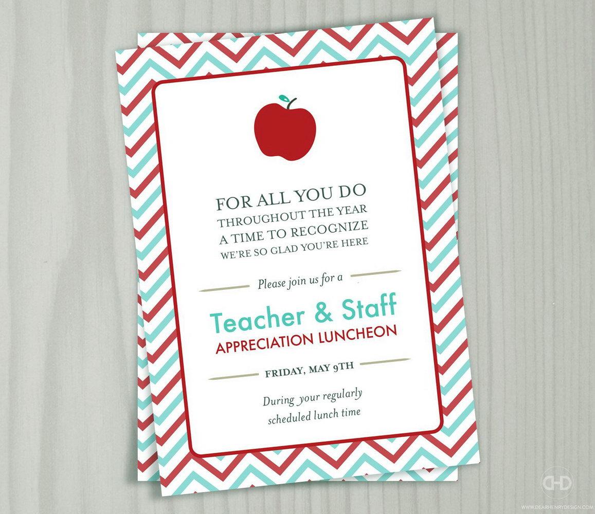 Teacher Appreciation Luncheon Invitation Template
