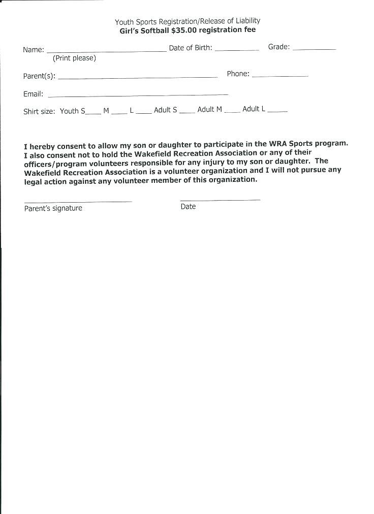 Accident Release Of Liability Form Template
