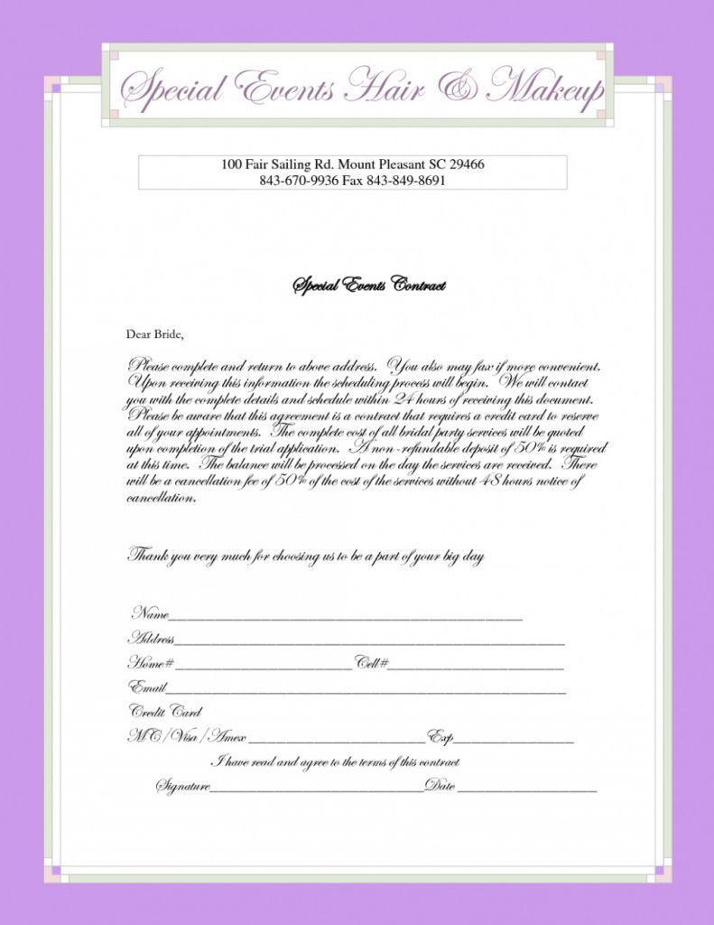 Bridal Makeup Consultation Form Template