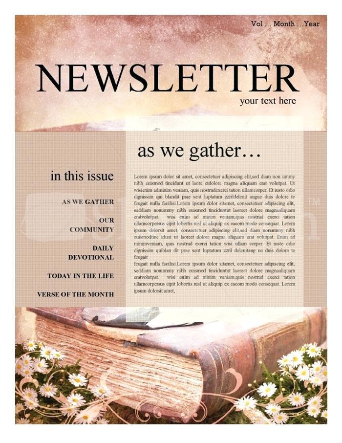 Church Newsletter Templates Free