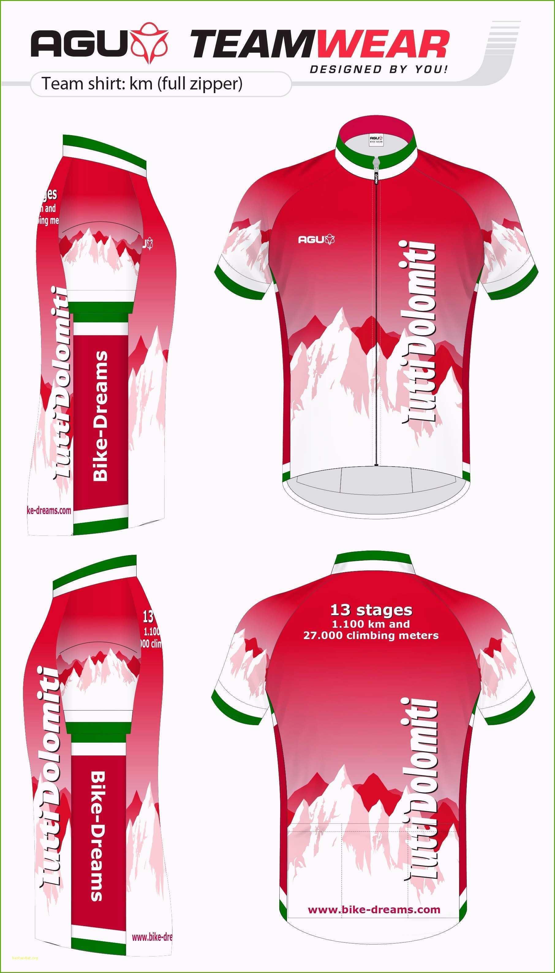 Custom Cycling Jersey Template