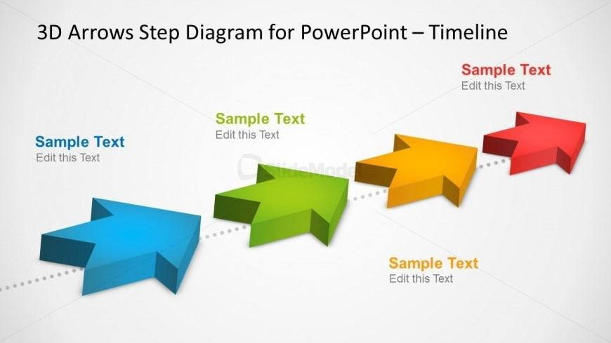 3d Timeline Template For Powerpoint