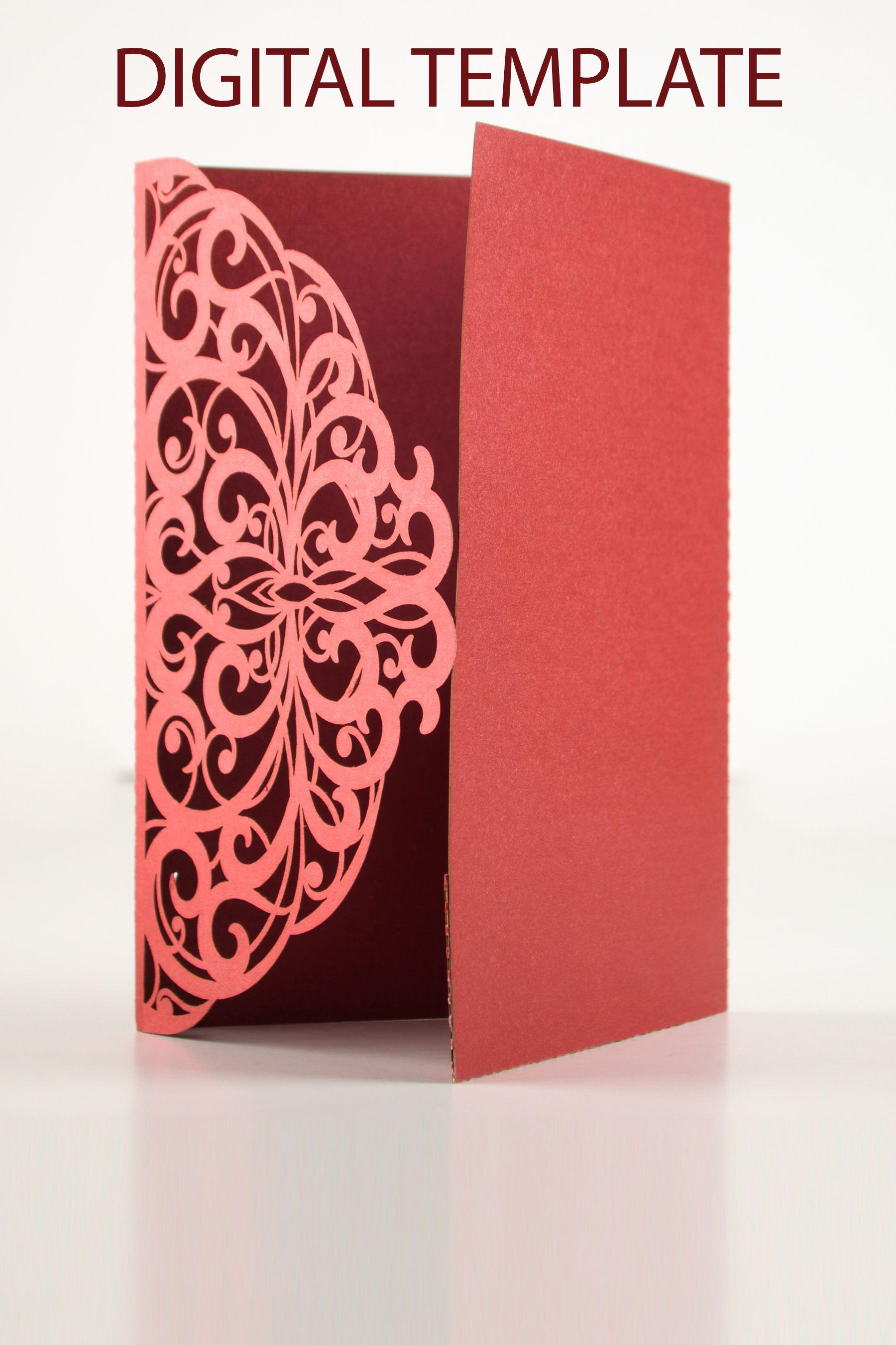 5x7 Pocket Fold Invitation Template