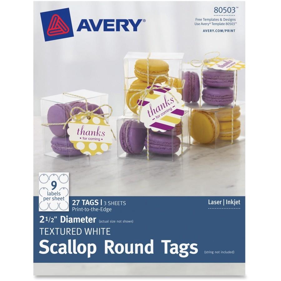 Avery Scallop Round Labels Template