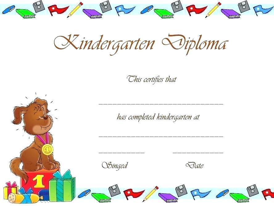 Award Certificate Templates For Preschool