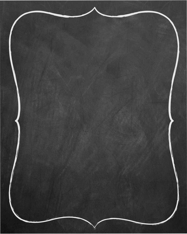 Blank Chalkboard Invitation Template