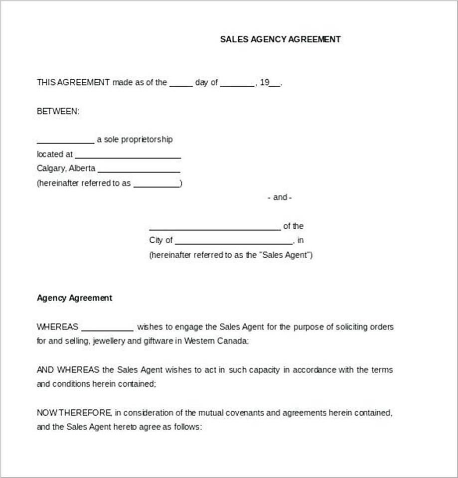 Booking Contract Sample