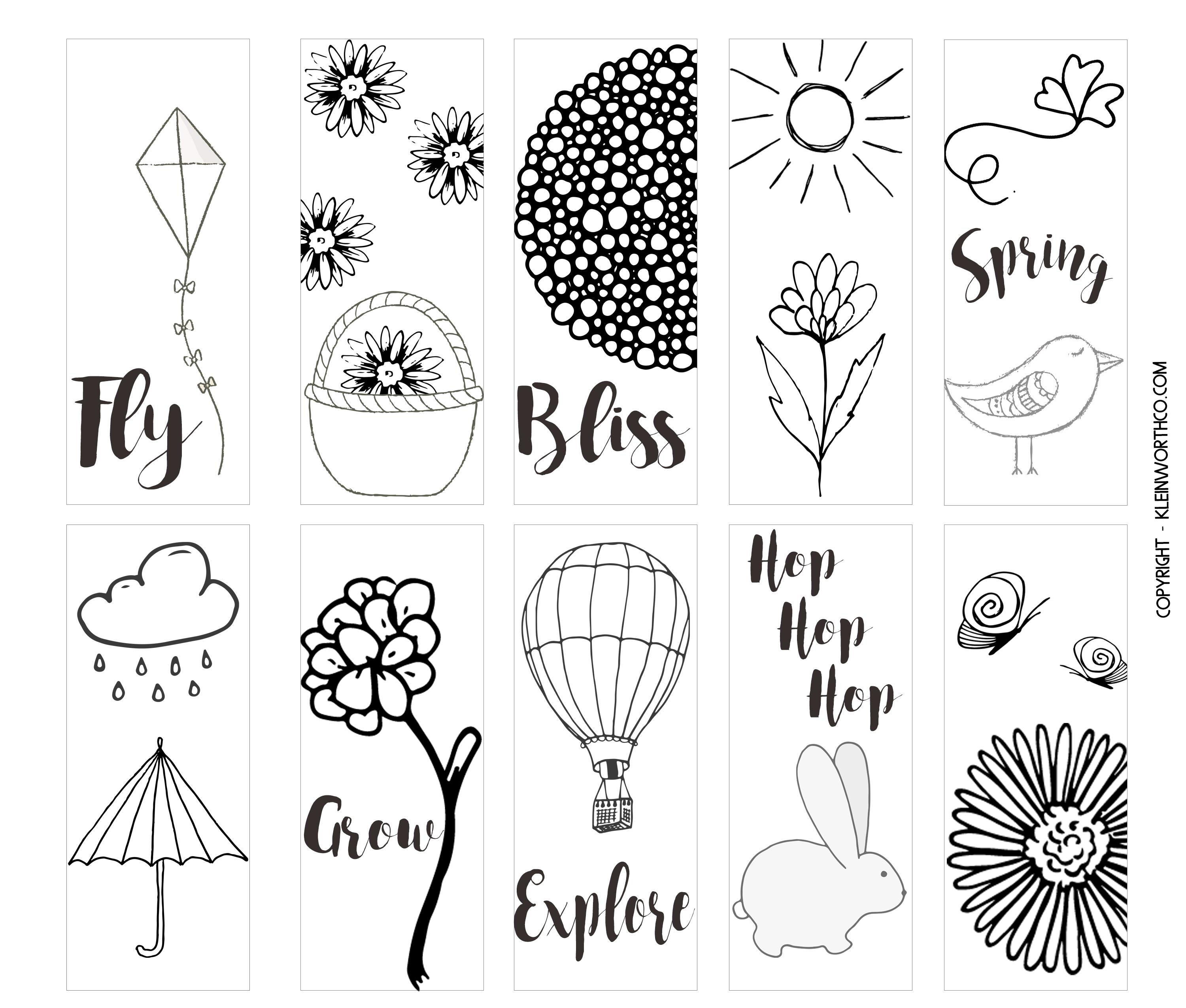 Bookmark Template Pages