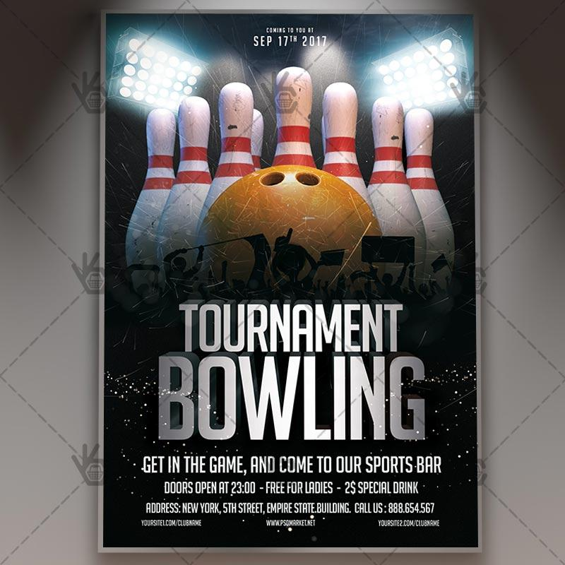 Bowling Flyer Template Free Download