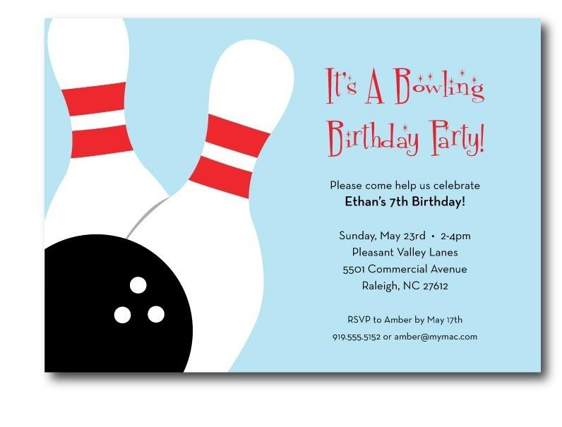 Bowling Party Flyer Template Free