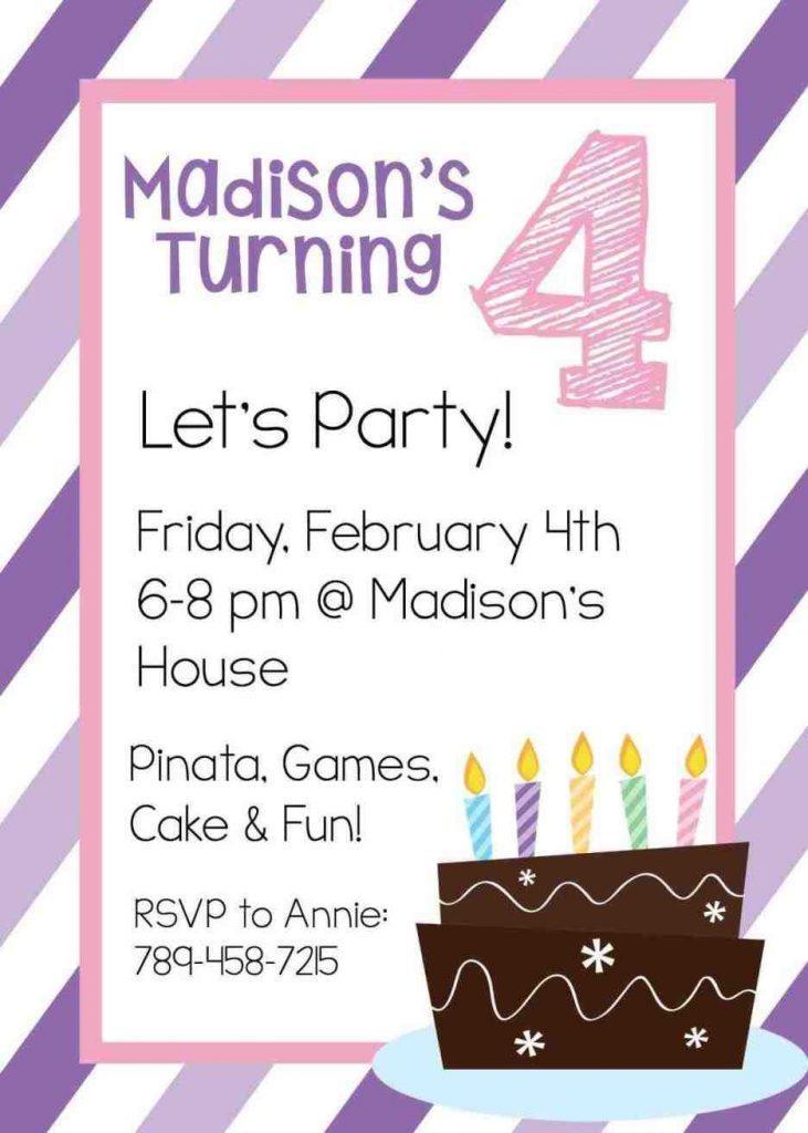 Boy Birthday Party Invitation Templates Free