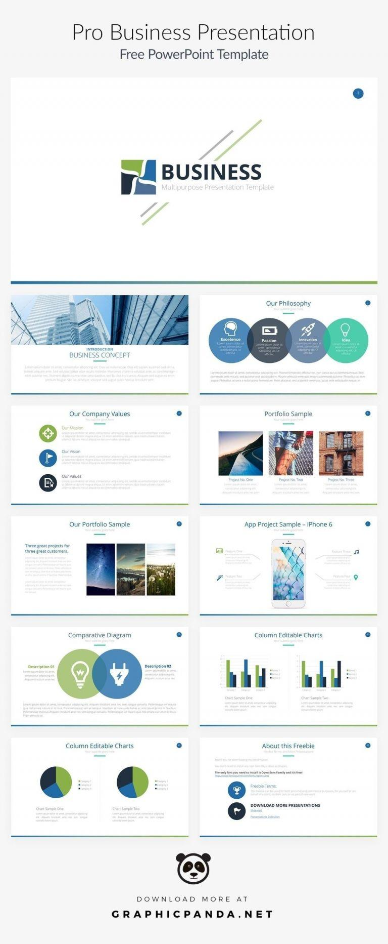 Business Dashboard Template Powerpoint