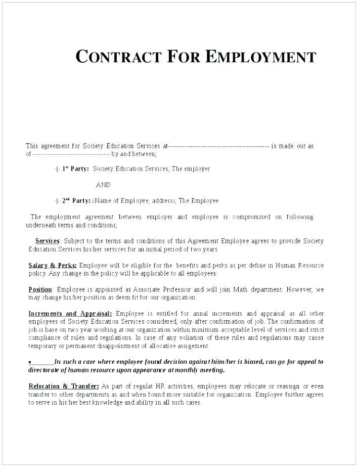 Casual Employment Contract Template Nz Free