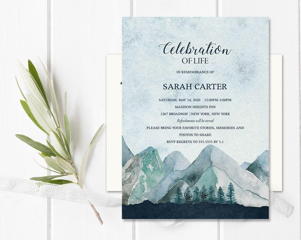 Celebration Of Life Invitation Template