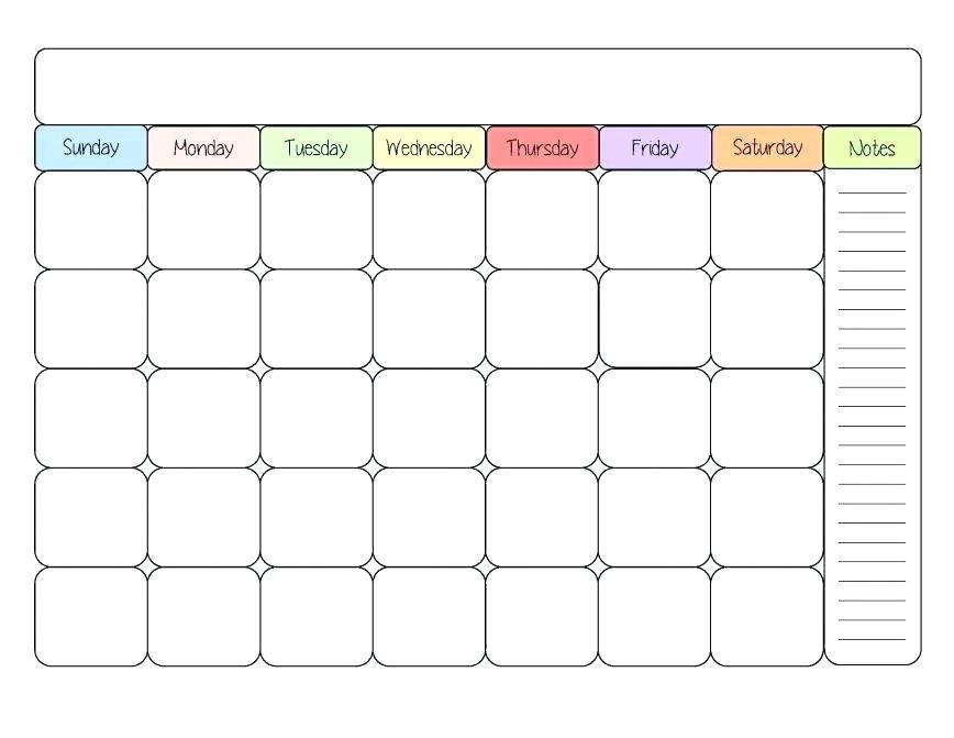 Children's Daily Chore Chart Template