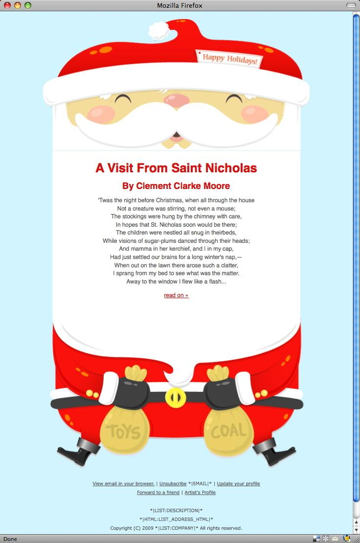 Christmas Template For Mailchimp