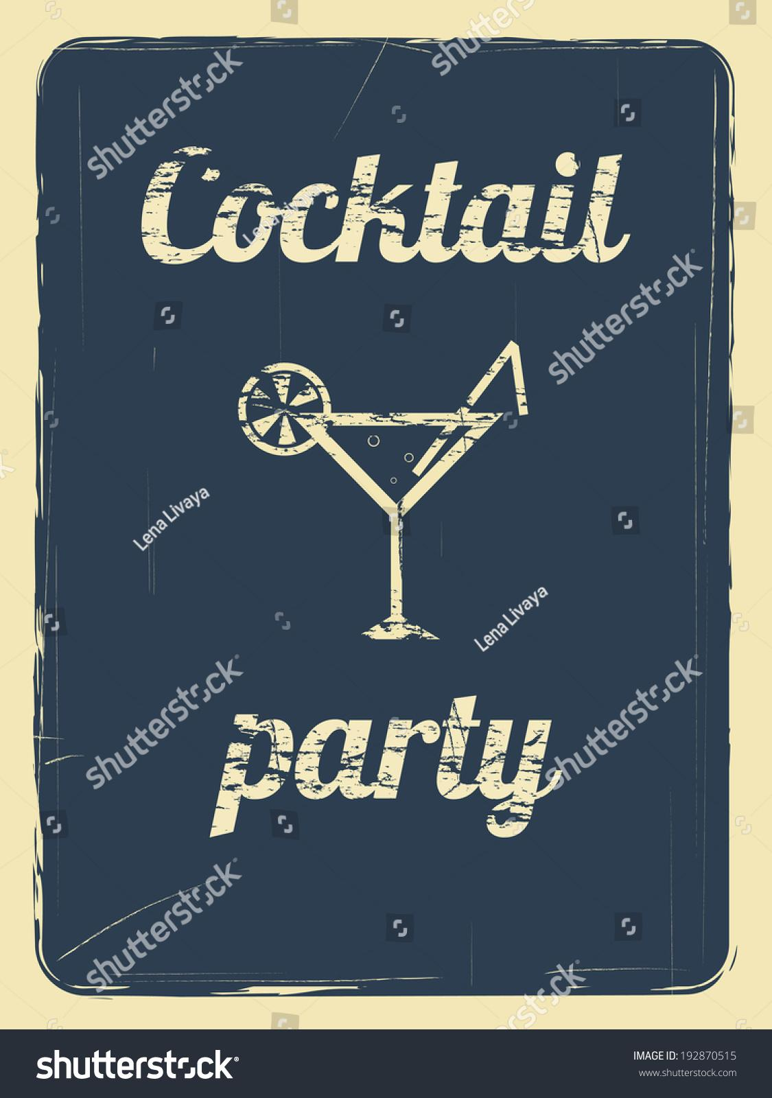 Cocktail Party Invitation Template Free