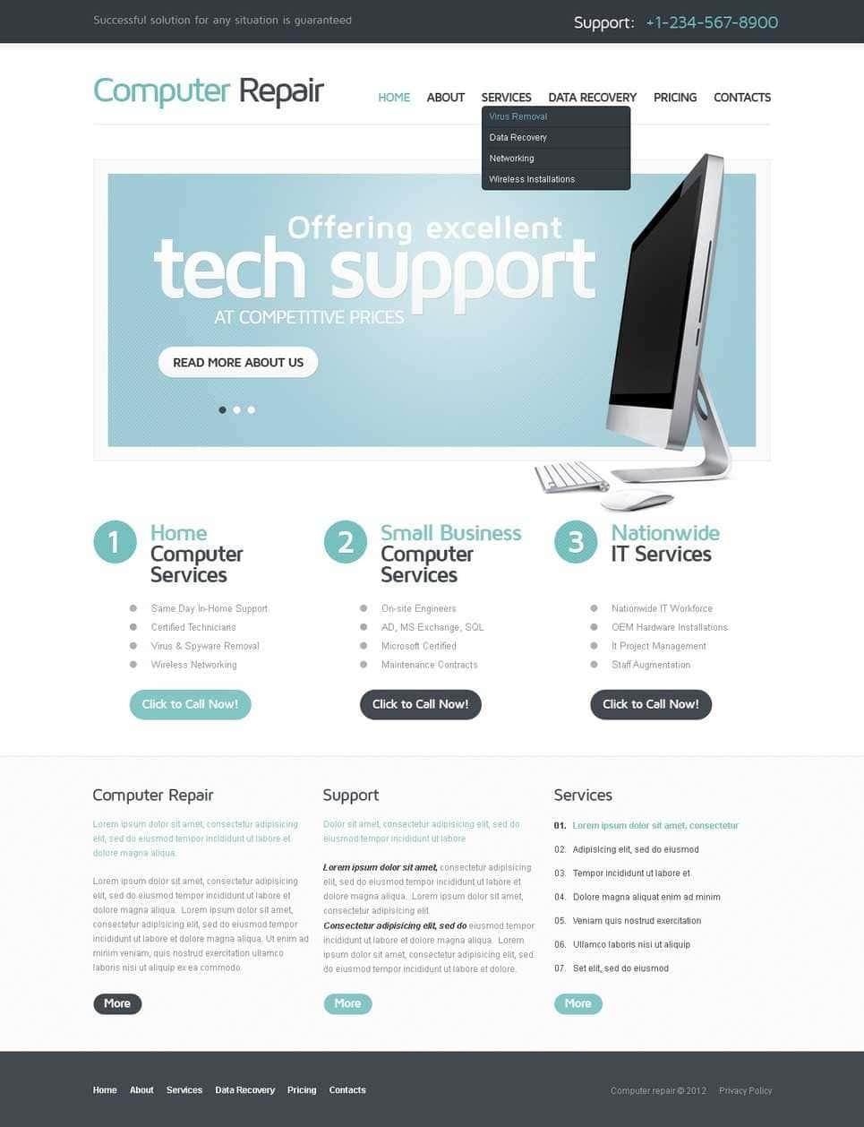 Computer Repair Flyer Template Free Download