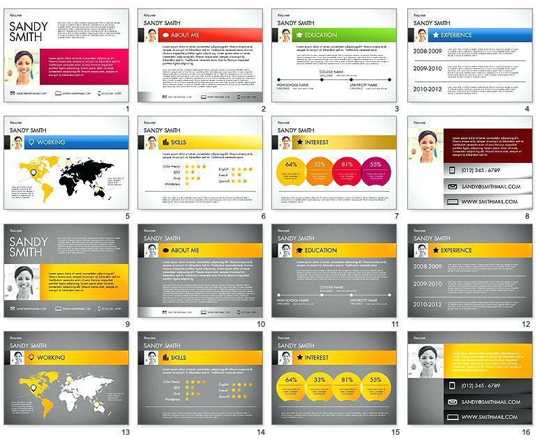 Creative Resume Templates Powerpoint