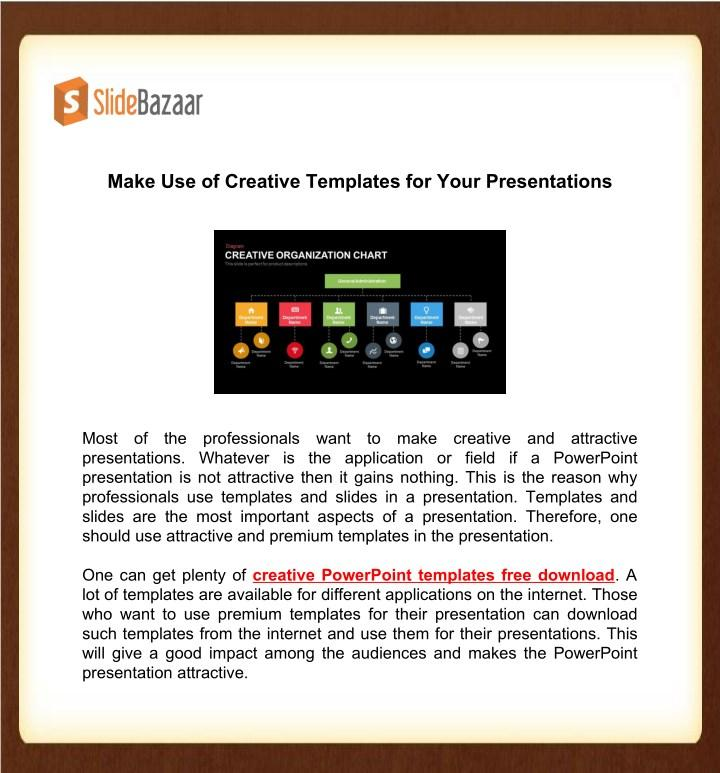 Creative Templates For Powerpoint Presentations
