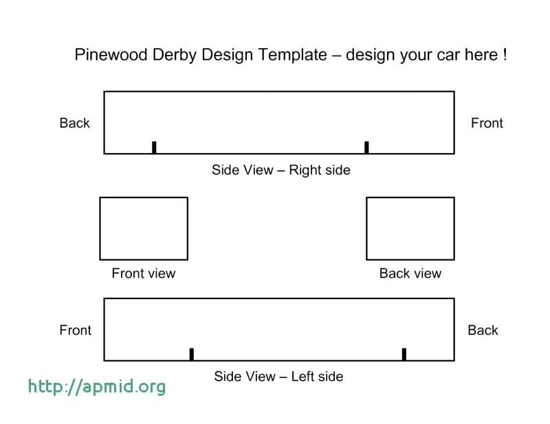 Cub Scout Pinewood Derby Car Templates