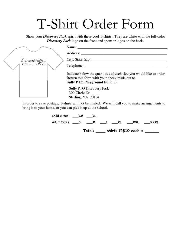 Custom T Shirt Invoice Template