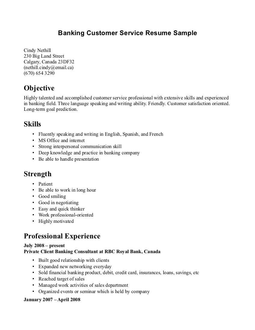 Customer Service Resume Template