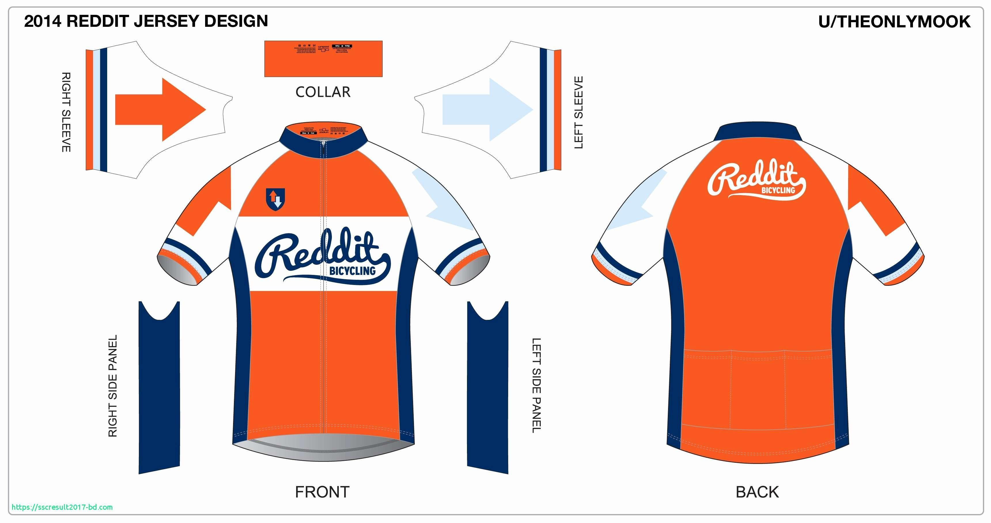 Cycling Jersey Design Template Download