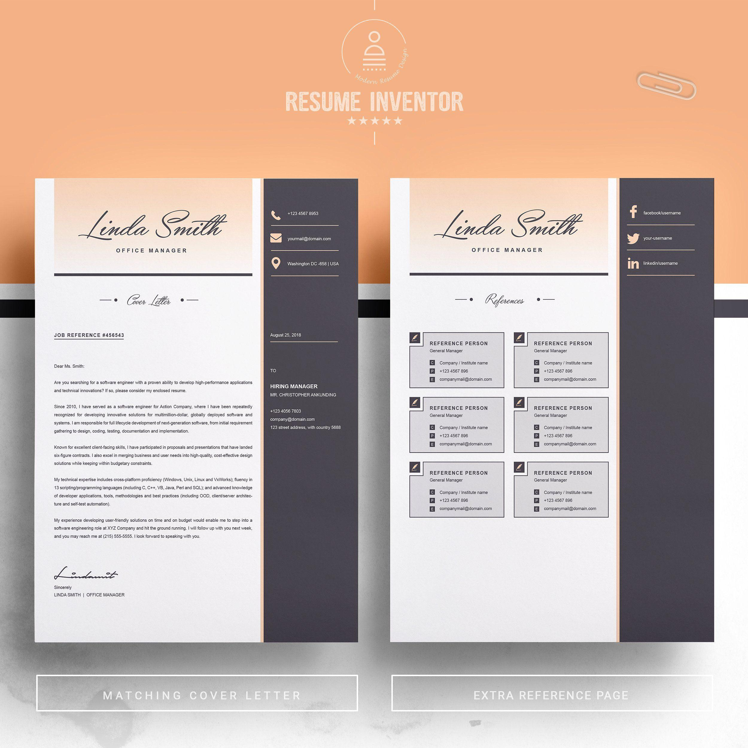 Editable Resume Template With Photo